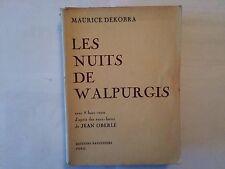 LES NUITS DE WALPURGIS 1950  DEKOBRA 8 HORS TEXTE D'APRES JEAN OBERLE ILLUST