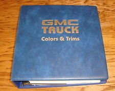 Original 1985 GMC Truck Colors & Trims Dealer Showroom Presentation Book Album