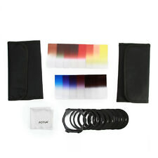 24 in 1 Graduated ND 2 4 8 Color Filter Adapter Ring Holder Case Kit for Cokin P