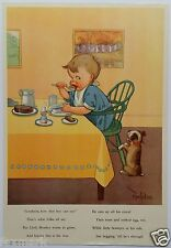 """""""Goodness, How That Boy Can Eat"""" 1952 Educational Poster--Art by C.Twelvetrees"""