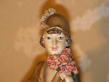 Vintage Tittanic figure 1983 Italy - Woman with dog