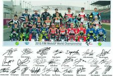 MOTO GP 2015 ALL RIDERS AUTOGRAPHED SIGNED A4 PP POSTER PHOTO