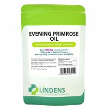 Lindens Evening Primrose Oil 1000mg 90 Capsules Vitamin E Gamma Linolenic Acid