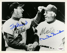 (SSG) STAN MUSIAL & DUKE SNIDER Signed 10X8 Baseball Photo with a JSA COA