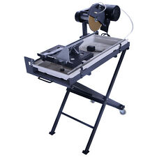 "10"" Blade Electric Wet Tile Saw 2.5HP Cutter Marble Masonry Guide w/ Stand"