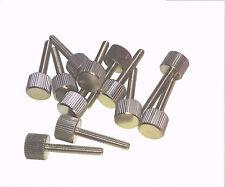 12X Rändelschraube M4X25 Messing vernickelt Rändelschrauben Schraube M4 X 25 DIN