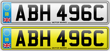 PRIVATE NUMBER PLATE-lesioni 496c-lesioni AB AH Chevy Big Block v8 Corvette lesioni 496c