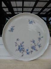 PLAT à TARTE PORCELAINE BAVARIA  Décor BOUQUET Bleu 29,5 cm