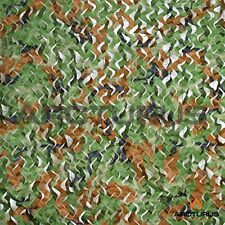 10' X 20' Woodland Camo Netting with Mesh Support Grid - Lightweight Net