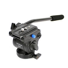 Professional Video Camera Fluid Drag Tripod Head & Quick Release for DSLR Camera