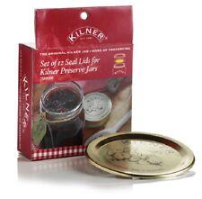 Kilner Set di 12 Seal Coperchi per ORO conservazione Preservare Barattolo vuoto di tenuta