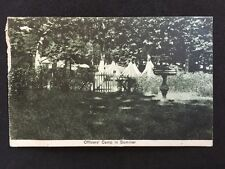 Vintage Postcard - WW1 Military #13 - Italian - officers Camp In Summer