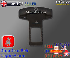 Seat Belt Buckle Fits MERCEDES-BENZ Logo Safety Clasp Insert Stop Alarm Buzzer