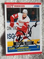 Detroit Red Wings Cory Emmerton Signed 10/11 Score Update Rookie Card Auto