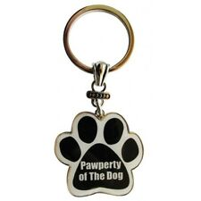 Paw Print Key Chain Fob Property of the Dog