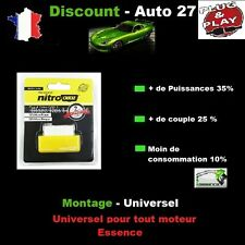 BOITIER ADDITIONNEL CHIP BOX PUCE OBD ESSENCE FORD FIESTA 6 1.25 60/82 CV