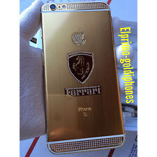 Apple iPhone 6S Plus gold 24k  128GB - (factory Unlocked) diamonds