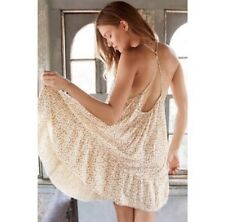 Last One! Urban outfitters cream floral y back tiered gauze slip dress  NWT XS
