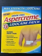 Aspercreme Max Strength Lidocaine Patch, 2 boxes, 10 patches