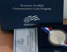 2006 BU Benjamin Franklin Scientist 90% Silver Dollar US Mint Commemorative Coin
