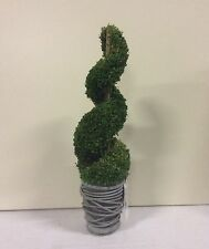 New Design Potted  38cm Artificial Pot Plant Green Spiral Topiary