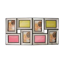 """27.5"""" Black Trimmed Glass Encased Photo Picture Frame Collage Wall Decoration"""