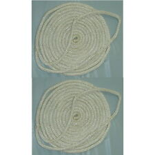 2 pack of 3/4 Inch x 35 Ft White Double Braid Nylon Mooring and Docking Lines