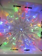 """12"""" STAR BRIGHT 37 LED 3 IN 1 FUNCTION COLOR CHOICE CHRISTMAS TREE TOPPER - NEW"""