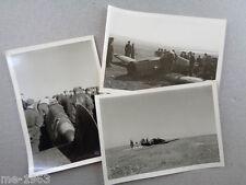 original 3 x  Foto Russland ME 109  Jagdflugzeug nach Notlandung