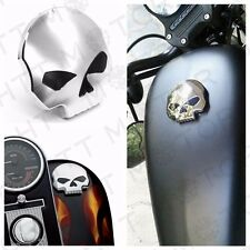 Motorcycle Skull Fuel Gas Tank Cap Cover For Harley Dyna Softail Sportster 84-15
