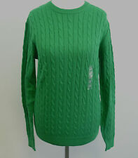 Uniqlo Wool Blend Cable Crew Neck Sweater XS Green Box7408 A