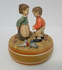 ANRI Wooden Music Box GIRL & BOY Thoren's Movement LET ME CALL YOU SWEETHEART