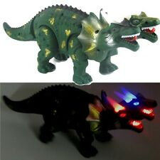 "16"" Walking Green Two Headed Dinosaur Jurassic World Light Real Sound Xmas Gift"