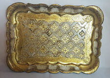 Beautiful  Vintage  Small Italian Florentine Tray