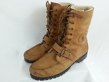 Polo Ralph Lauren Mens Ranger Style Brown Leather Boots 12 D Insulated