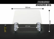 Windscreen deflector clear windshield ENDURO EX1 motorcycle motorbike