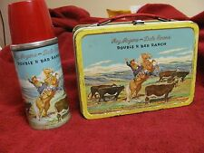 Roy Rogers & Dale Evans-Double R Bar Ranch`1955`TV Show.Blue Band-Metal Lunchbox