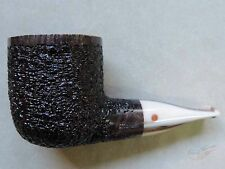 Moretti Pipe Fantastic Magnum Black Rusticated Chubby Freehand