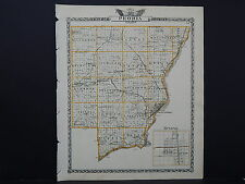 Illinois Map, 1876 Double Sided Counties of Peoria and Woodford #07