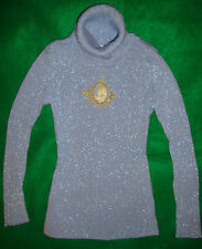 DISNEY~girls~BEAUTIFUL/CINDERELLA/BLUE/SILVER/LAME/SPARKLY/SWEATER!(S~5/6) NEW!