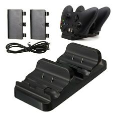Dual Charger Dock Station + 2 Battery for Xbox One Wireless Controller BoBo