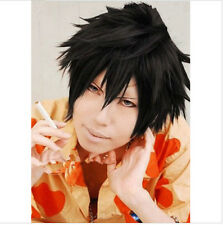 Japan Anime Fairy Tail Gray Fullbuster Cosplay Wig Black Short Heat Resistant
