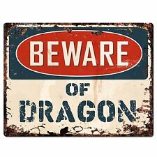 PP1482 Beware of DRAGON Plate Rustic Chic Sign Home Room Store  Decor Gift