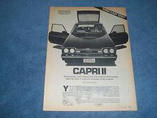 "1976 Mercury Capri II Vintage Info Article ""Sharp Styling, Solid Construction..."