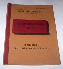 Ansaldo Trattore  Diesel AF 6 - Istruzioni uso e manutenzione 1956 ca.