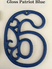 """Victorian Cast Iron Hand-Painted Scroll NUMBERS """"0-9"""" for Address Street House"""