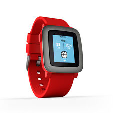 Pebble Time Stainless Steel Case Red Strap 501-00022 Smartwatch - RRP £ 150