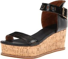 NEW! Anthropologie FIEL Maud Black Patent Leather Cork Wedges Shoes 8.5 $330