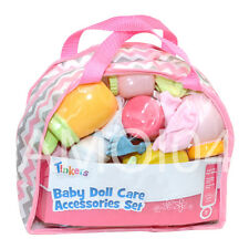 Tinkers Baby Doll Care Accessories Set in Carry Bag, Bottle - Play Pretend *New