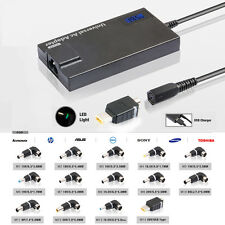 90W LCD Automatic Universal laptop charger power adapter with 14 tips USB output
